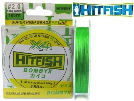 HitFish Bombyx X4 PE 150m Light Green