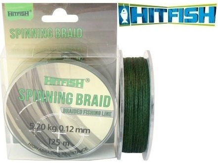 HitFish Spinning Braid X4 PE 150m Dark Green