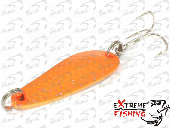 Блесна колеблющаяся Extreme Fishing Wizard 38mm 7gr #01 FluoOrange