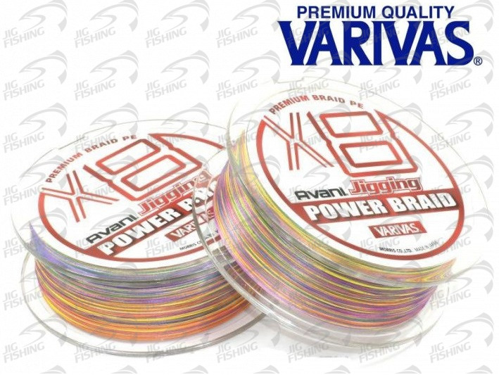 Шнур плетеный Varivas Avani Jigging Power Brade PE X8 200m #0.6 0.128mm 5.9kg