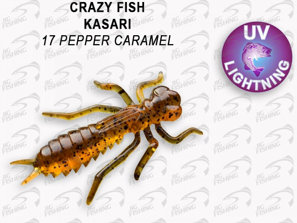 "Мягкие приманки Crazy Fish Kasari Floating 1.6"" 17 Pepper Caramel"